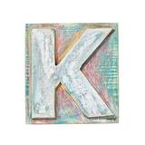 Wooden Alphabet Block  Letter K