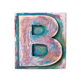 Wooden Alphabet Block  Letter B