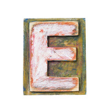 Wooden Alphabet Block  Letter E