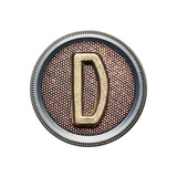 Metal Button Alphabet Letter