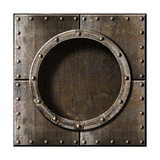 Armored Metal Porthole Background