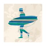Vintage Multicolor Go Surfing