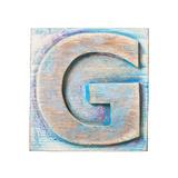 Wooden Alphabet Block  Letter G
