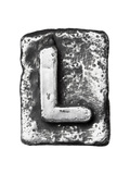 Metal Alloy Alphabet Letter L