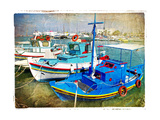 Greek Boats - Artistic Picture