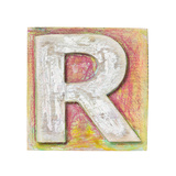Wooden Alphabet Block  Letter R