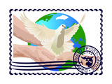 Postage Stamp A White Dove