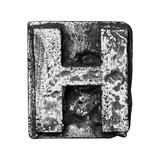 Metal Alloy Alphabet Letter H