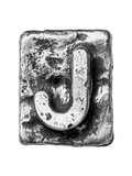 Metal Alloy Alphabet Letter J