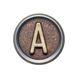 Metal Button Alphabet Letter