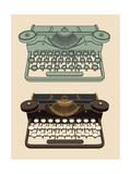 Vintage Typing Machine Reproduction d'art par Davooda
