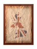Vintage Uk Map On Paper Craft