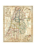 Old Map Of The Holy Land Reproduction d'art par Tektite