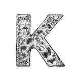 Metal Alloy Alphabet Letter K