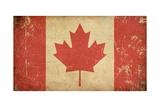 Canadian Aged Flat Flag