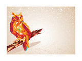 Colorful Owl Bird Illustration