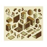Isometric Media Element Set