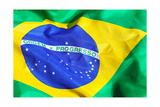 Waving Fabric Brazil Flag