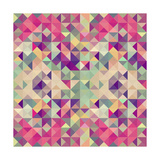 Vintage Hipsters Geometric Pattern