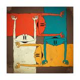Four Crossed Colorful Creatures