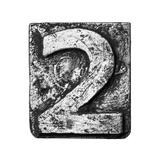 Metal Alloy Alphabet Number 2