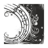Black And White Music Background