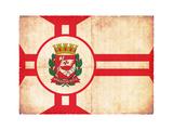 Grunge Flag Of Sao Paulo (Brazil)