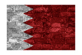 Bahrain Flag Graphic On Wall