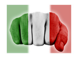 Fist With Italian Flag