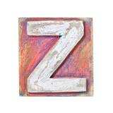 Wooden Alphabet Block  Letter Z