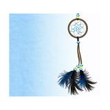 Dreamcatcher On Blue Background Reproduction d'art par Sateda