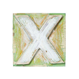 Wooden Alphabet Block  Letter X