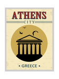 Parthenon From Athens Poster