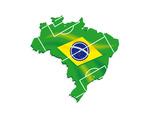 Brazil Map Flag Soccer