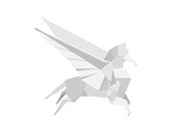 Illustration Of An Origami Pegasus