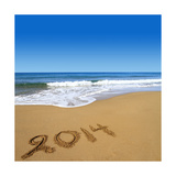 2014 Written On Sandy Beach