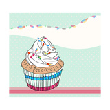 Cute Birthday Card With Cupcake