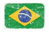 Grunge Styled Flag Of Brasil