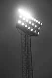 Stadium Spotlights Lit At Night