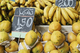 Bananas And Papaya In A Street Market