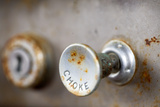 A Steampunk Style Retro Choke Knob - Shallow Depth Of Field