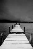 Jetty View In Black And White Papier Photo par Creativa