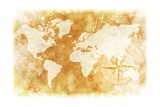Rustic World Map