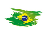 Brazil Flag Stylized
