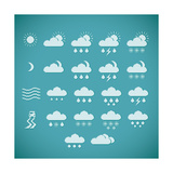 Pixel Weather Icons