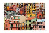 Colourful Texture Of Manarola City Of Cinque Terre - Italy