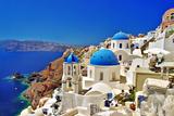Amazing Santorini - Travel In Greek Islands Series Reproduction d'art par Maugli-l