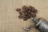 Coffee Beans And Coffee Mill