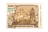Moscow Kremlin Postage Stamp Isolated White