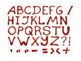Ketchup Alphabet
